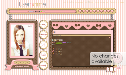 Sweet Cookies and Candies Layout